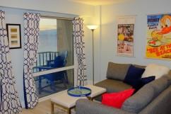 Living Area, Queen Sleeper Sofa