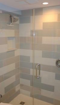 Remodeled Tiled Shower